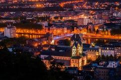 Liège par nuit Photos libres de droits