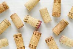 Lièges de vin avec des rayures photo libre de droits