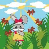 Lièvres bons dans l'herbe Image stock