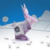 Lièvres d'origami des billets de banque Image stock