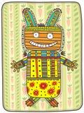 Lièvres folkloriques décoratifs Photographie stock libre de droits