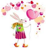 Lièvres le jour de Valentine Images libres de droits