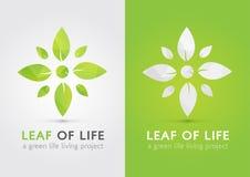 Liść życie Nowożytny ikona symbol życie liściem Zdjęcia Royalty Free