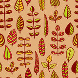 liść deseniują bezszwowego Obraz Stock