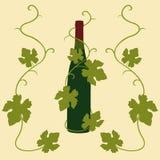 liść gronowy wino ilustracji