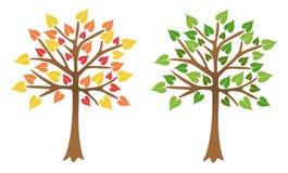 liść jaskrawy drzewa dwa royalty ilustracja