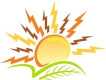 liść loga władzy słońce royalty ilustracja