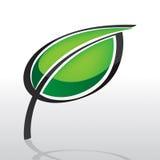 liść logo Obraz Stock