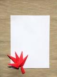 liść papier Obraz Royalty Free