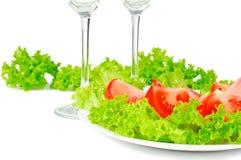 liść sałaty pomidor Obrazy Stock