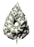 liści pieniądze Obraz Royalty Free