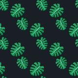 liścia monstera wzór bezszwowy ilustracja wektor