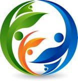 Liścia okręgu logo royalty ilustracja