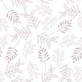 Liście i jagoda, bezszwowy brązu wzór royalty ilustracja