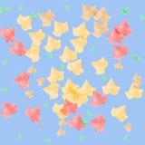 liście jesienią sztuki ilustracja wektor