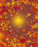 liście jesienią tła ilustracja wektor