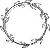 Liście obramiają set Herbarium Projektuje element dla zaproszeń ślub, urodziny Dla poczt?wkowego projekta ilustracji