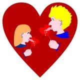 Liźnięcie miłość Obrazy Royalty Free