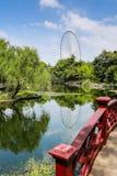 Li arbeta i trädgården, den Wuxi staden i det Jiangsu landskapet, Kina Royaltyfri Bild