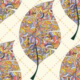 liść bezszwowy deseniowy Obrazy Royalty Free