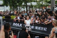 Li Bingbing at Transformers Movie Debut Stock Images