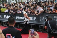 Li Bingbing at Transformers Movie Debut Stock Photography