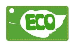 Liścia eco etykietka ilustracja wektor