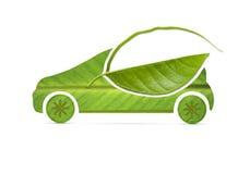Liścia eco samochód Zdjęcie Stock