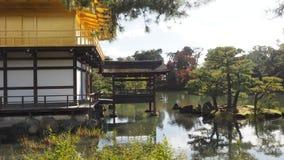 Liścia koloru zmiana Kinkakuji Kyoto Japonia Zdjęcie Royalty Free
