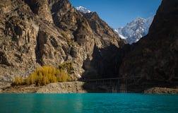 liścia koloru zmiany @ attabad jezioro Fotografia Stock