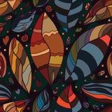 Liścia rocznika bezszwowy wzór Fotografia Royalty Free