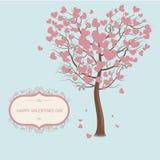 Liście drzewo w postaci serc to walentynki dni Fotografia Stock