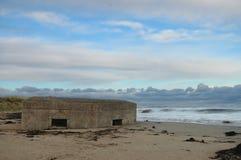 ` Li combatteremo sul ` delle spiagge - scatola incavata della pillola Immagine Stock Libera da Diritti