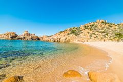Li Cossi beach on a clear summer day stock photography