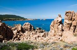 Li Cossi beach  Costa Paradiso  Sardinia island Italy Royalty Free Stock Images