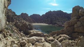 Li Cossi-het eiland Italië van strandcosta paradiso sardinia stock footage