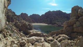 Li Cossi plaży Costa Paradiso Sardinia wyspa Włochy zbiory