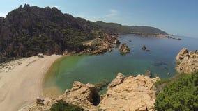 Li Cossi plaży Costa Paradiso Sardinia wyspa Włochy zdjęcie wideo