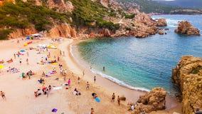 Li cossistrand, Sardinia Royaltyfri Foto