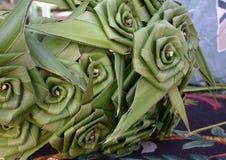 liść dłonie róże Zdjęcia Stock