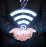 Li-Fi High Speed Wireless connection Royalty Free Stock Image