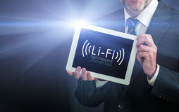 Li-Fi High Speed Wireless connection Stock Image