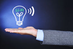 Li-Fi, light fidelity Royalty Free Stock Photo