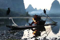 Li Fisherman in China stock image