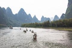 Li-Fiume con il bello paesaggio Fotografie Stock Libere da Diritti