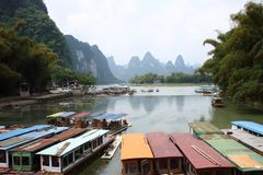 Li flod i Guilin arkivbilder