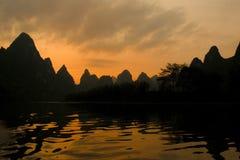 Li flod i Yangshuo arkivbilder