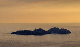 Li Galli (Positano kust) royaltyfri foto