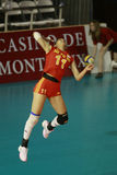 Li Juan (chi). In the match China against Serbia.Montreux Volley Masters 2008. 04-08 may 2008.Montreux.Switzerland Stock Images