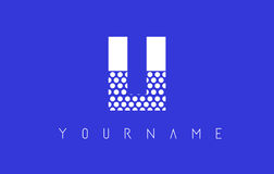 LI L I Dotted Letter Logo Design with Blue Background. Royalty Free Stock Photography